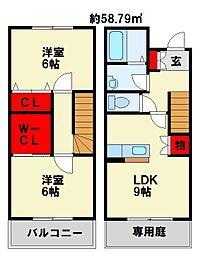 R's Residence黒崎南[2階]の間取り