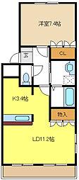 愛知県名古屋市緑区水広1丁目の賃貸マンションの間取り