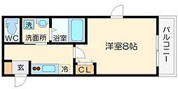 ParkHills新大阪will(パークヒルズ新大阪ウィル)[4階]の間取り