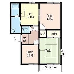 ウィステリア A[2階]の間取り