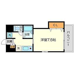 ラグーンフライト新大阪[6階]の間取り
