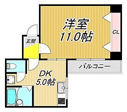 市隆ハイツ武庫之荘[3階]の間取り