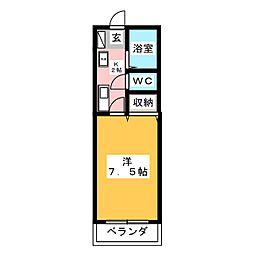 グローリーネギシII[2階]の間取り