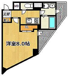 エスカーサ大阪WEST[707号室]の間取り