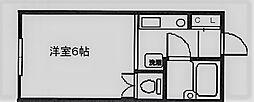 ルシエール甲東園[204号室]の間取り