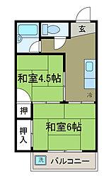蔵王コーポ[5階]の間取り
