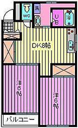 三笠ハイツ[301号室]の間取り
