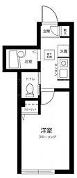 東京メトロ有楽町線 小竹向原駅 徒歩14分の賃貸アパート 1階1Kの間取り
