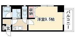愛知県名古屋市昭和区台町3丁目の賃貸マンションの間取り
