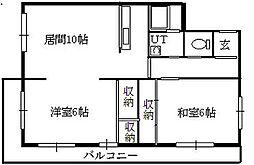 北海道札幌市豊平区月寒東三条15丁目の賃貸マンションの間取り