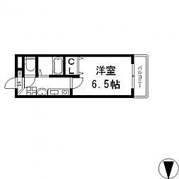 LADY'SDORMII(レディースドーム)[208号室号室]の間取り