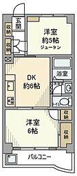 埼玉県さいたま市南区別所2丁目の賃貸マンションの間取り