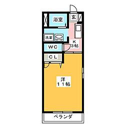 カサ・ミヤ[2階]の間取り