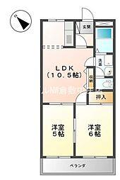 岡山県倉敷市羽島丁目なしの賃貸アパートの間取り