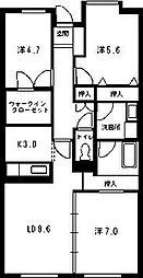 ウイングローブ[4階]の間取り