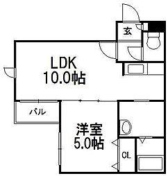 noA−33[302号室]の間取り