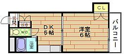 ポートヴィラ弁天3[4階]の間取り