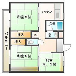 ビレッジハウス[4階]の間取り
