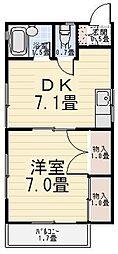 パレスホリケ6[203号室]の間取り