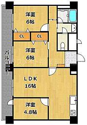 チサンマンション祇園[5階]の間取り