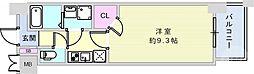JR東海道・山陽本線 神戸駅 徒歩15分の賃貸マンション 8階1Kの間取り