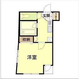 神奈川県横浜市南区白妙町4の賃貸マンションの間取り