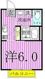 ALIVIE EAST新松戸 2階1Kの間取り