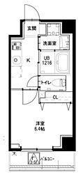 都営大江戸線 若松河田駅 徒歩4分の賃貸マンション 4階1Kの間取り