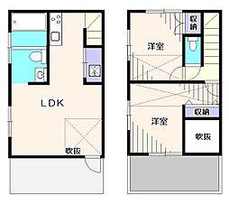 [テラスハウス] 東京都小平市大沼町2丁目 の賃貸【/】の間取り