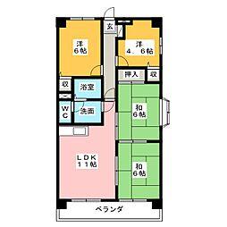 マンション山陽館[3階]の間取り