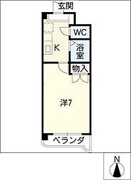 レスポワール清水ケ岡[3階]の間取り