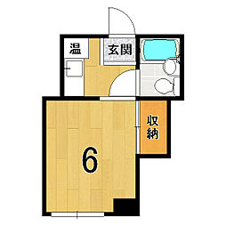 山澤マンション[305号室]の間取り