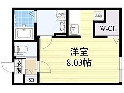 名古屋市営桜通線 桜山駅 徒歩4分の賃貸マンション 5階ワンルームの間取り