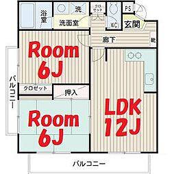 神奈川県横浜市鶴見区馬場2丁目の賃貸マンションの間取り
