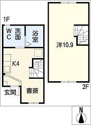 [タウンハウス] 愛知県一宮市奥町字宮東 の賃貸【/】の間取り