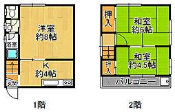 [テラスハウス] 兵庫県尼崎市東大物町2丁目 の賃貸【/】の間取り