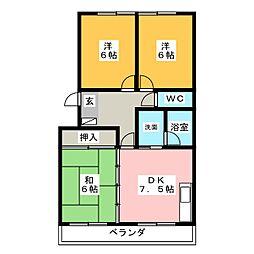 夢コーポ寺島[3階]の間取り