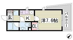兵庫県神戸市中央区北本町通4丁目の賃貸マンションの間取り