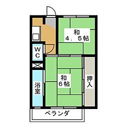 ビレッジハウス穂積 1号棟[2階]の間取り