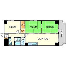 ネオハイツ第2新大阪[5階]の間取り