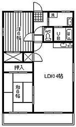コーポ道[3階]の間取り