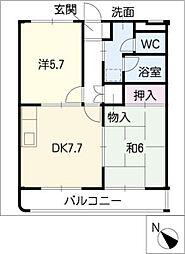 エヴァ 21[1階]の間取り