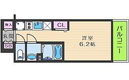 ララプレイス大阪福島アビリテ 4階1Kの間取り