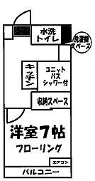 アークス豊田[702号室]の間取り