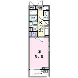 山陽電鉄本線 手柄駅 徒歩14分の賃貸アパート 3階1Kの間取り