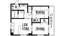ニートニス[2階]の間取り