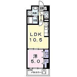 西田中町マンション[0503号室]の間取り
