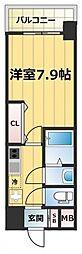 JR大阪環状線 森ノ宮駅 徒歩7分の賃貸マンション 13階1Kの間取り