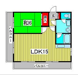 サンセット90[4階]の間取り