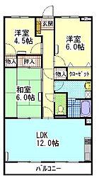 陽香マンション[3階]の間取り